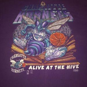 Old vtg Charlotte Hornets nba single stitch